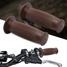 """New Vintage Cafe Racer Motorcycle Hand Grips Rubber Handle Bar 7/8"""" 22mm for BMW r90/6 r80 R90 kawasaki kz650 CB1100 Cafe racer"""