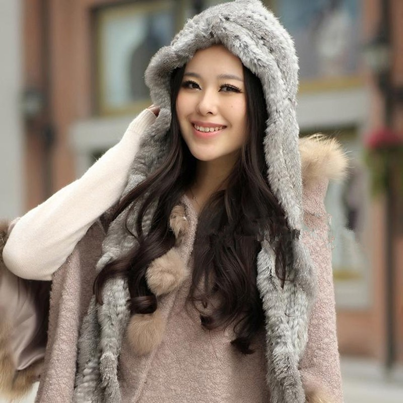 Genuine Rex Rabbit Fur Headband Wholesale Retail Real Fur Scarves Women Winter Hat Fur Headband