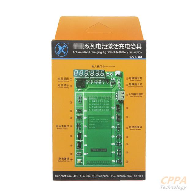 Kiaisi k-9201 6 em 1 professional placa de carga de ativação da bateria com micro usb cabo para para iphone 6 & 6 plus 5 & 5S 4 & 4S
