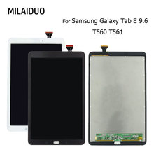 Original LCD Display For Samsung Galaxy Tab E T560 T561 SM-T560 SM-T561 9.6 Tablet Touch Screen Digitizer Assembly Black White jianglun for samsung galaxy tab sm t560 t561 lcd display touch screen digitizer assembly