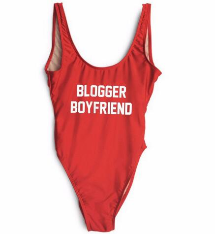 BLOGGER BOYFRIEND Swimsuits Sexy High-cut Low Back Swimwear Bathing suits Beachwear One Piece Bodysuit Playsuit Monokinis Custom