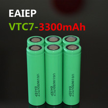6PCS 100% brand new original US18650VTC7 3300mAh battery 18650 3.7V discharge 30A dedicated EAIEP electronic products large capa original electronic cigarette 240w vaptio n1 pro tc box mod vaping mod support vw 18650 battery fits 510 thread tank atomizer