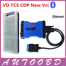 Blue color VD TCS CDP+ Pro Plus 2014.R2 software with bluetooth&LED Cable [free activation+plastic box] for cars /trucks
