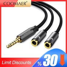 Headphone splitter audio cable 3.5 mm male to 2 female jack 3.5 mm adapter splitter for mobile phone laptop MP3 MP4 player цена