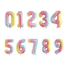 AVEBIEN 40Inch Digital Aluminum Balloon Wedding Anniversary Baby Shower Gradient Birthday Party Decorations Kids