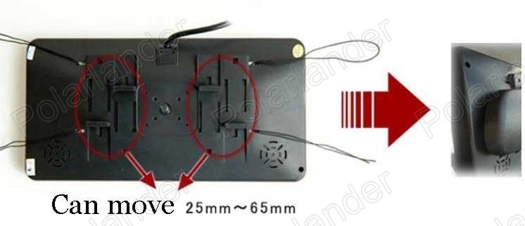 Новый 9 дюймов цветной TFT ЖК дисплей экран монитора SD USB оптовая продажа для камеры заднего вида Обратный приоритет двусторонняя AV в - 3