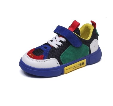 2018 NEW Autumn Kids Shoes Boys Girls Sneakers Brand Casual Colorblock Children Shoes Breathable Boy Sport Shoes