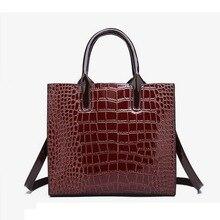 b2ffc954f De moda de marca de lujo de cocodrilo bolso de cuero de las mujeres bolso  de hombro de piel de cocodrilo bolso de mujer, bolso d.