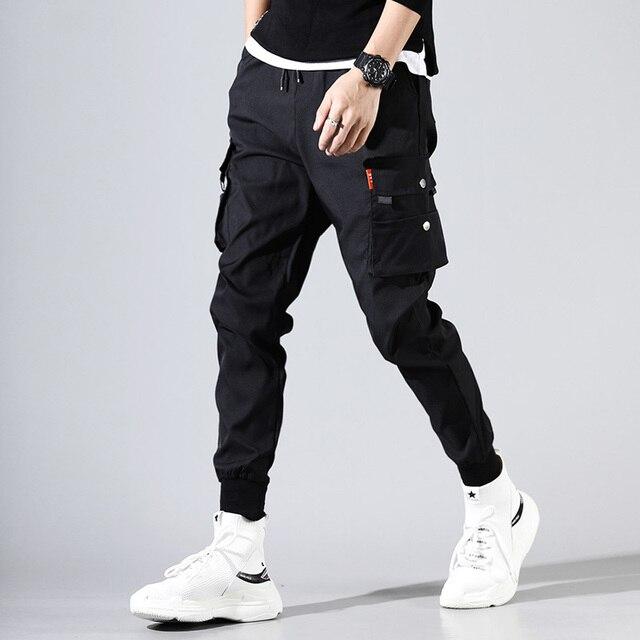 hip hop men pantalones hombre kpop casual cargo pants skinny sweatpants joggers modis streetwear trousers harajuku track pants