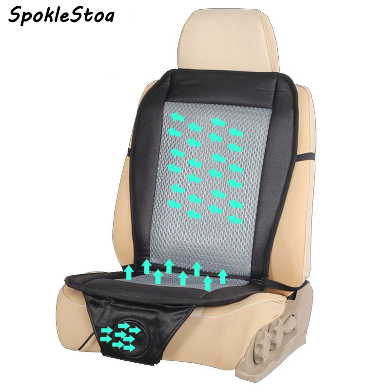 12v Fan Cooler Car Seat Covers Summer Cushion