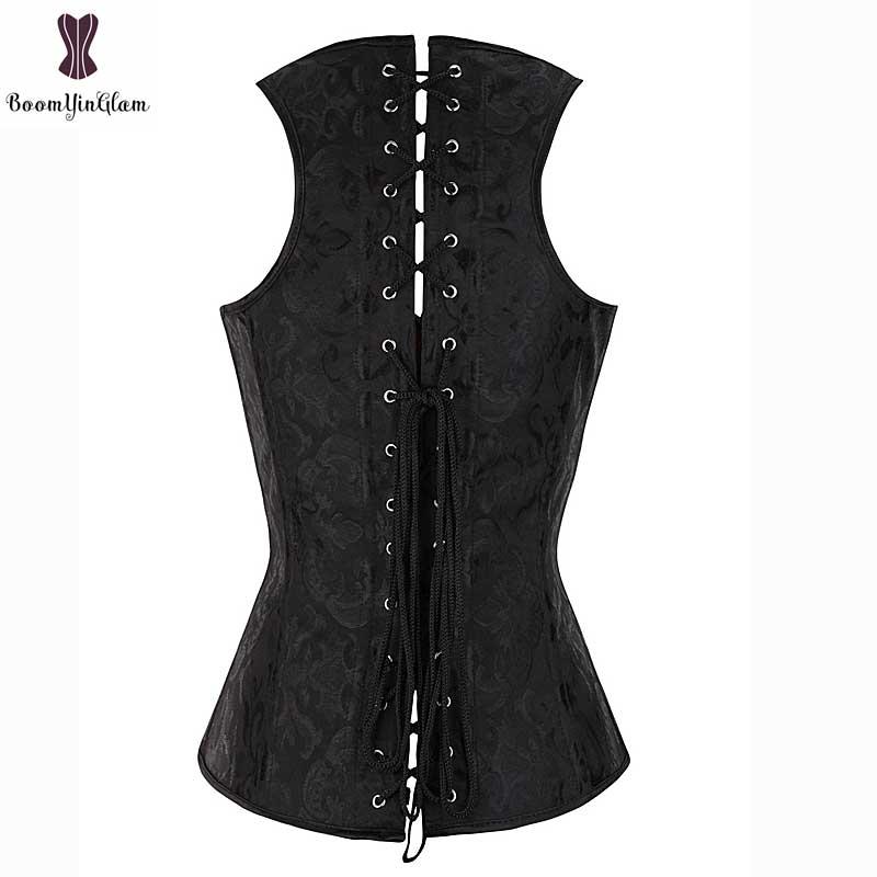 Floral Vest Underbust Corset Shoulder Strap Plus Size Corselet Spiral Steel Boned Outfit Women Bustier Busk Closure Waisttrainer