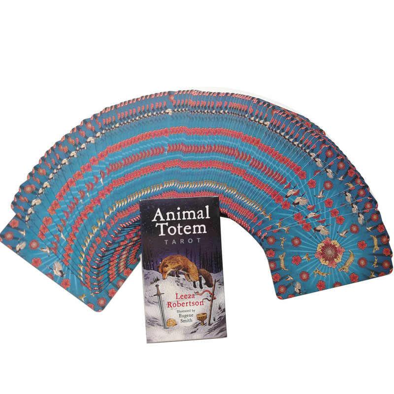 動物トーテムタロットカードおかしいボードゲームデッキスペイン占いゲーム 78 カード