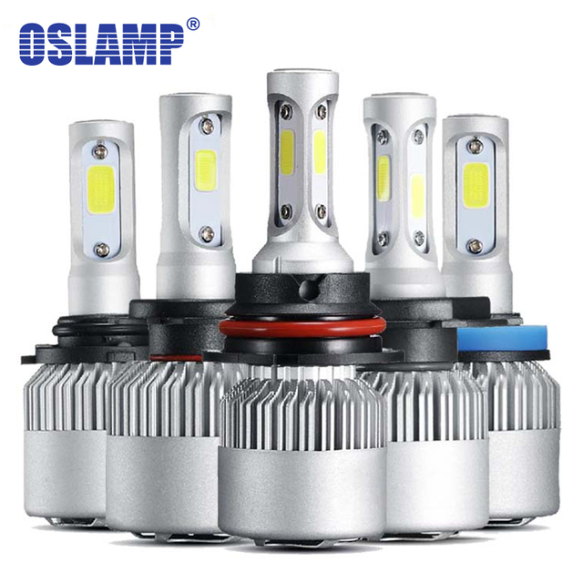 Oslamp 3 Chips Hi-Lo Beam 9007 H4 LED Headlight 72W 8000LM 2 Chips for H3 H1 H7 Led Car Bulbs Led H11 Car Lamps 9012 9005 9006