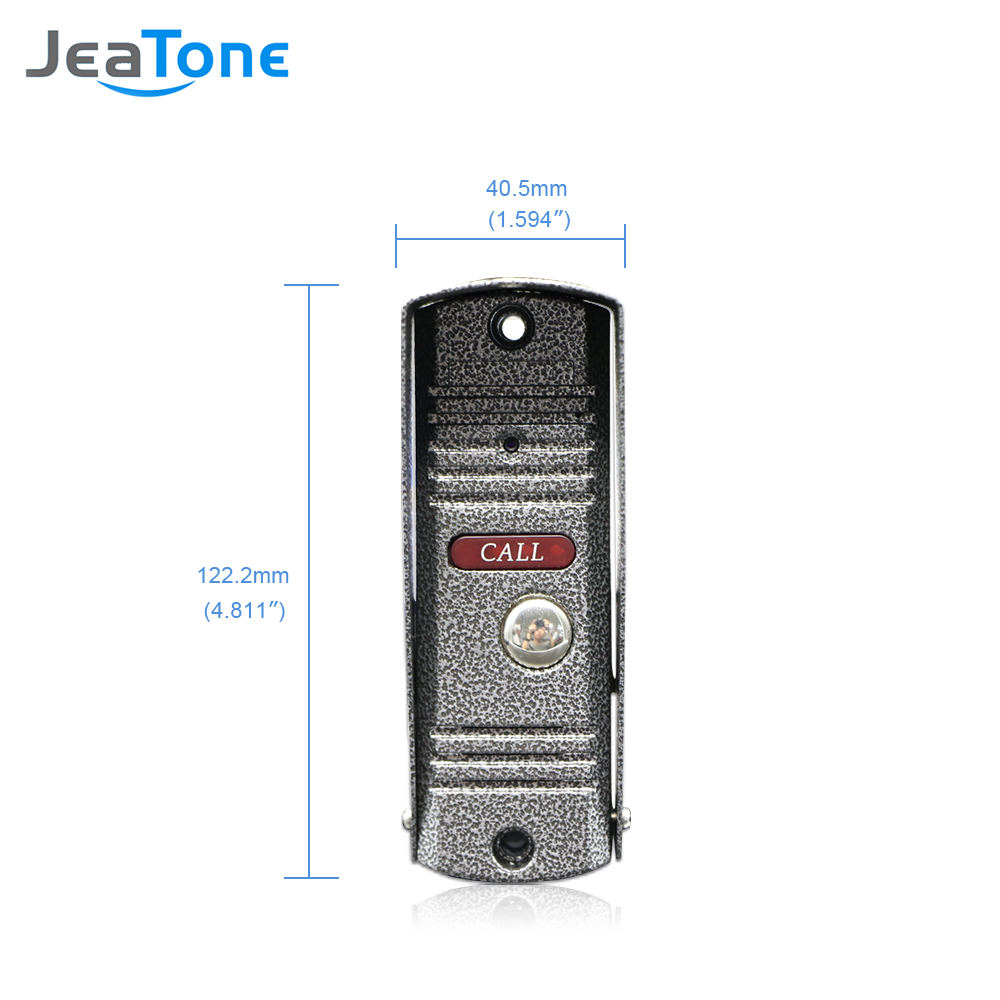 Image 4 - JeaTone 4 Wired Video Door Phone Intercom Doorbell Home Security System Door Speaker Call Panel+7 inch Monitor +1200TVL Camera-in Video Intercom from Security & Protection