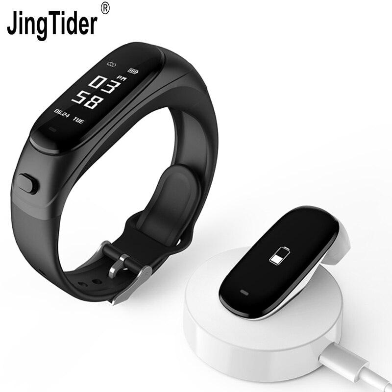 V08 Smart Bracelet Bluetooth Écouteurs 2 dans 1 Bracelet Coeur de La Pression Artérielle Moniteur de Fréquence Tracker Réponse Téléphone Sans Fil Casque