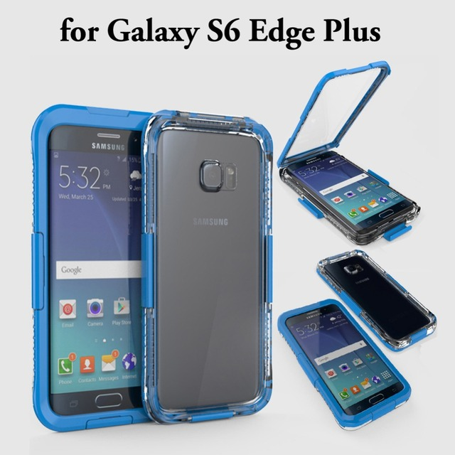 pretty nice feba8 9f718 US $8.99 |S6 Edge Plus WaterProof Case Underwater Swim Diving Case cover  For Samsung Galaxy S6 Edge+ Shock Proof Outdoor Phone Cases Bags-in Fitted  ...