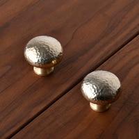 Forma de cogumelo/latão/Rodada Gabinete Armário Roupeiro Gaveta Puxe Maçanetas E Puxadores de Móveis de Ouro Alças