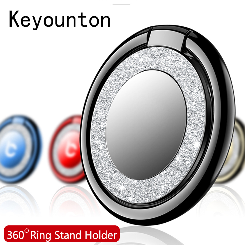 Finger Ring Holder For IPhone X Samsung S9 Case Cover Mobile Phone Stand Accessories Desk Dock Metal Bracket Ring Holders