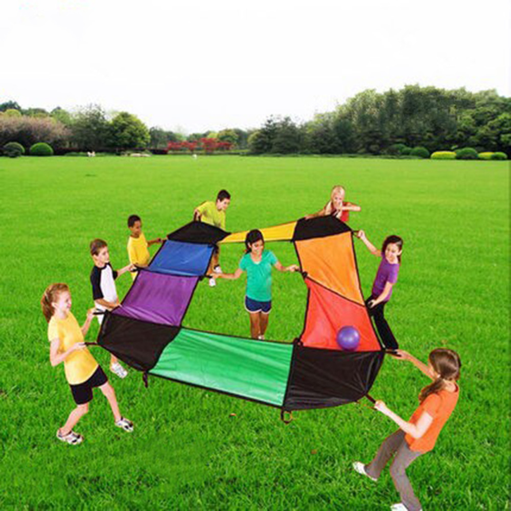 Hot Kids child Toy Multicolored Cooperation Play Game Umbrella Large Cloth