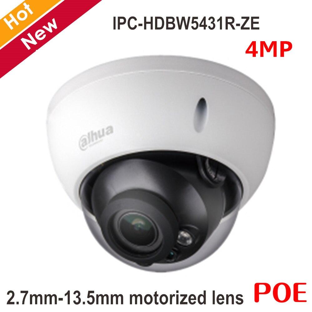 4MP английский POE Dahua IP Камера 2,7 мм 13,5 мм Моторизованный объектив H.265 H.264 Главная камера видеонаблюдения Видеоняни и радионяни IPC HDBW5431R ZE