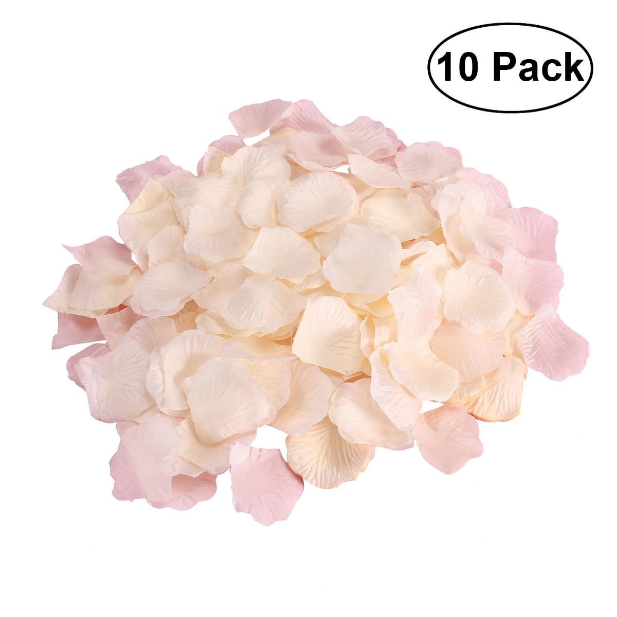 10 Pack Fake Rose Petals Artificial Wedding Flower Decoration