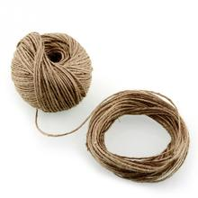 Hot New Soft 100m*2mm Natural Jute Twine Gift box String Rope Floral Craft Wedding Tags Wrap Decor Decoration Ornament