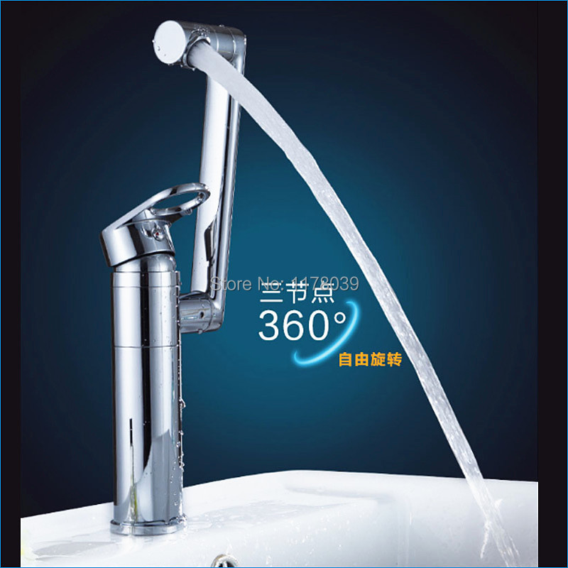 bathroom all copper basin mixer tap single hole counter basin faucet brass Lucky Cat faucet Free