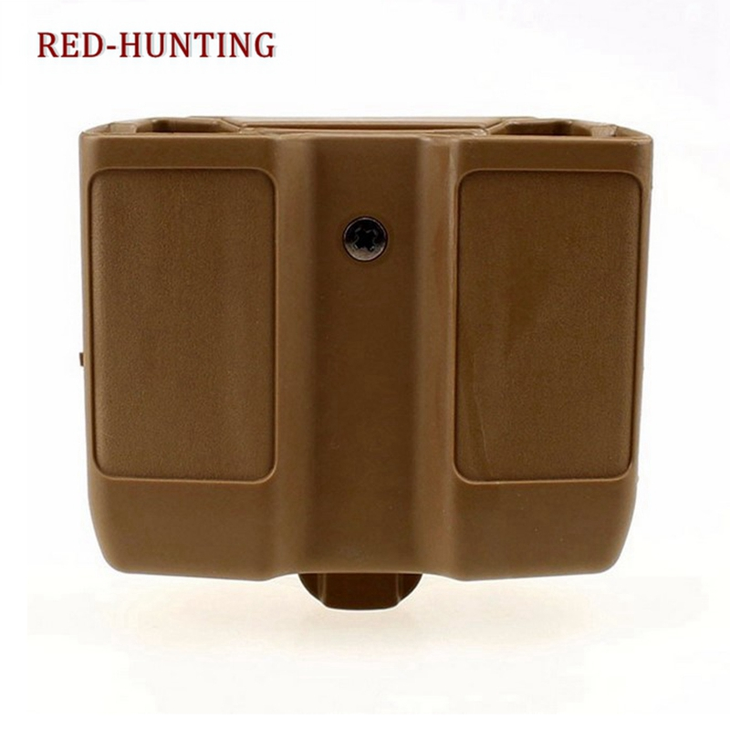 Hot Quick Draw Double Magazine Mag Pouch Case Stack Duty Belt Matte for Colt 1911 image