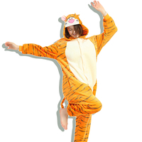 Animal Tiger Kigurumi Onesie Adult Teenagers Women Pijama Pajamas Funny Flannel Warm Soft Sleepwear Overall Onepiece