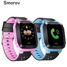 Y21 children SmartWatch GPS Kid Wristwatch 2G GSM Tracker Anti-Lost inteligente child Smart Watch illumination for ios Android