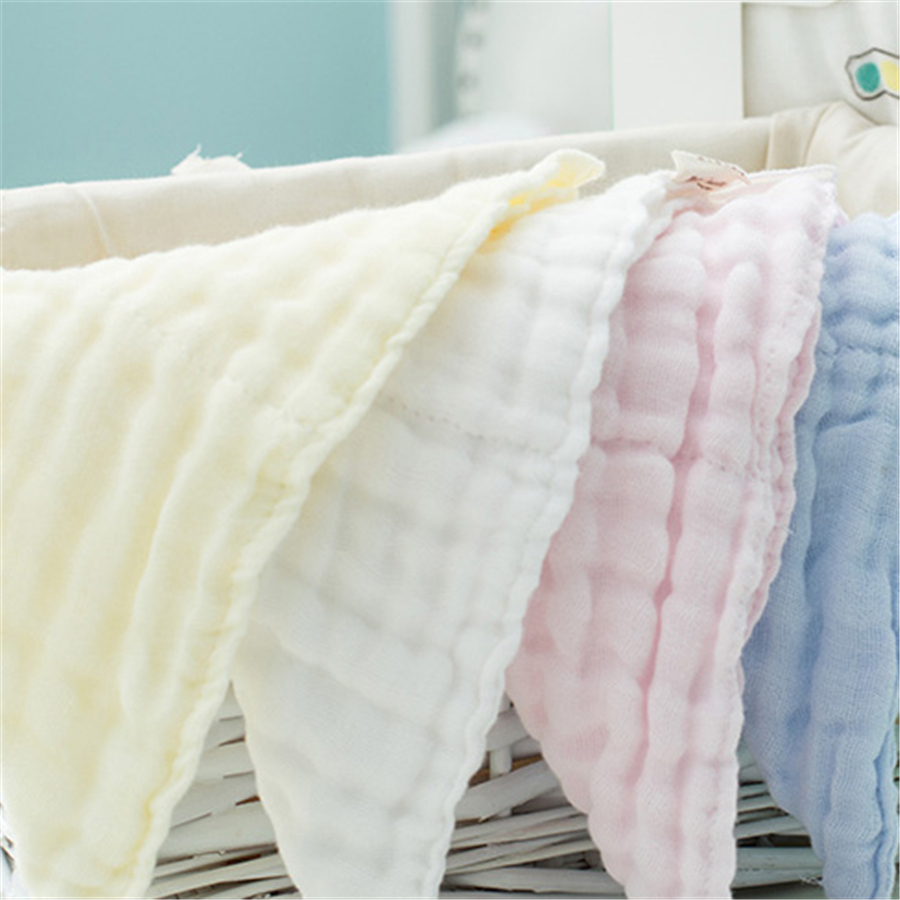 Soft Baby Towel Toddler Newborn Washcloth Gauze Simple Bib Small Feeding Stuff Baby Towel Bath Cozy 70A0231