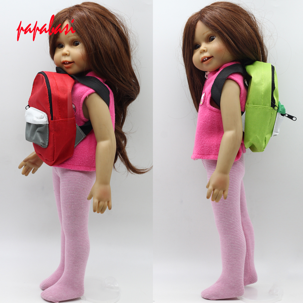 1PCS toy Backpack for 18 inch American girl doll accessories outgoing packets change purse toy 1 toy т53915