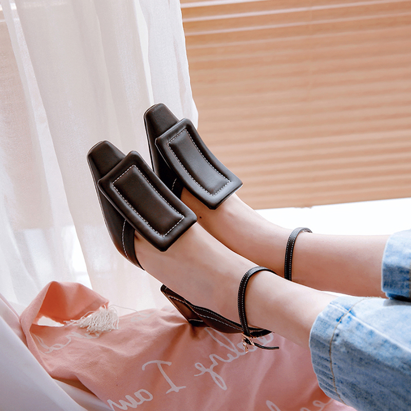 Dilalula 2019 New Brand Design Runway Show Summer Sandals Women Genuine Cow Leather Elegant High Wide Heels Shoes Woman