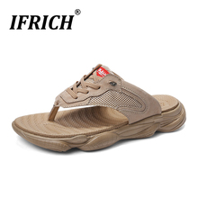 Best Selling Beach Man Flip Flops Fashion Men Slippers Funny Rubber Sole Summer Casual Shoe For Mesh Breathable