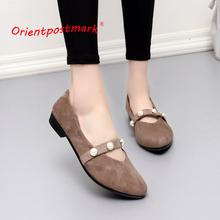 Orientpostmark Sweet Loafers Slip On Womens Office Shoes Women Wedges Cloth Work For Rest  Boat