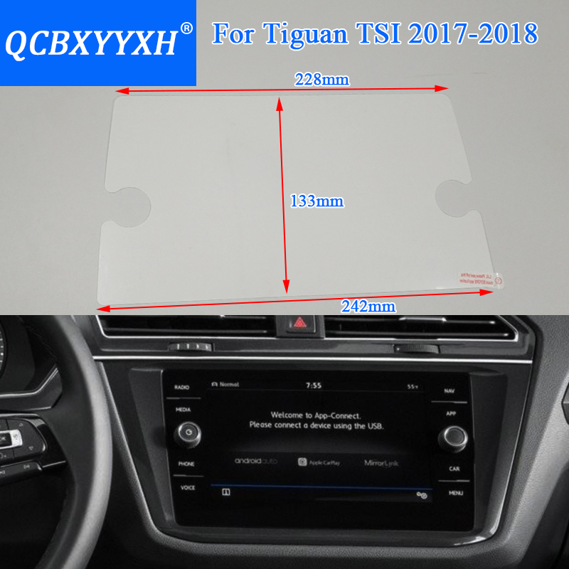 QCBXYYXH For Volkswagen Tiguan 2018 Car Styling GPS Navigation Screen Glass Protective Film Dashboard Display Protective