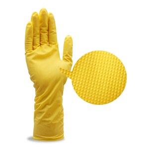 Image 3 - Нитриловые перчатки, водостойкие, масляные, желто зеленые, нитриловые, с алмазным узором