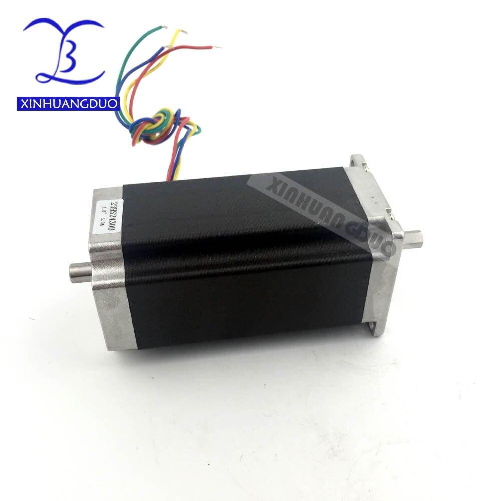 Nema 23 Stepper Motor Dual Shaft 57BYGH112 425oz-in 112mm dual shaft 3.0A CE Embroidery 3D Printer ( 23HS2430B )