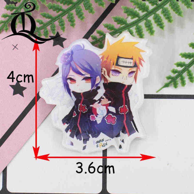 1PC broches de acrílico caliente dibujos animados Anime broches de Naruto mochila estudiante broches de ropa pines bolsa decoración broche insignias Z15