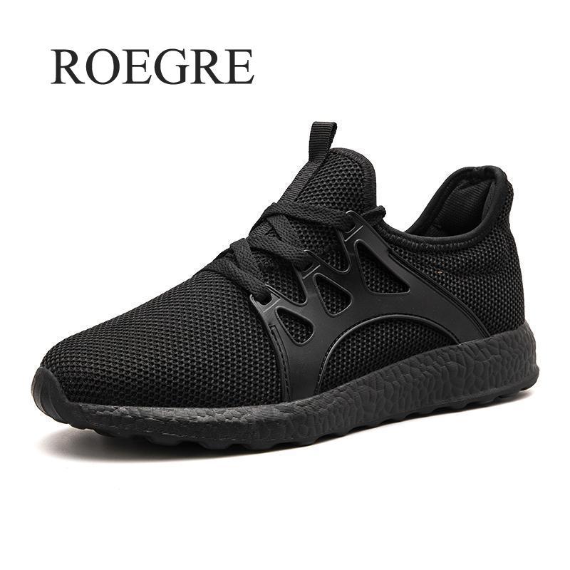 2018 Fashion Men Shoes Casual Weaving Fly Mesh Breathable Light Soft Black Slipon Mens Shoe Male Trainers Sneakers Human Race