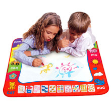 2016 Children New Aqua Doodle Children's Drawing Toys Mat Magic Pen Educational Toy 1 Mat+ 2 Water Drawing Pen  80cmx60cm