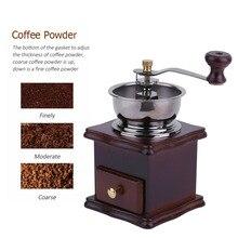 2017 Mini Práctico Molinillo de Café Manual Molinillo De Café Molino de Mano de Antigüedades De Madera con Cajón de Gran Capacidad Herramientas de Cocina