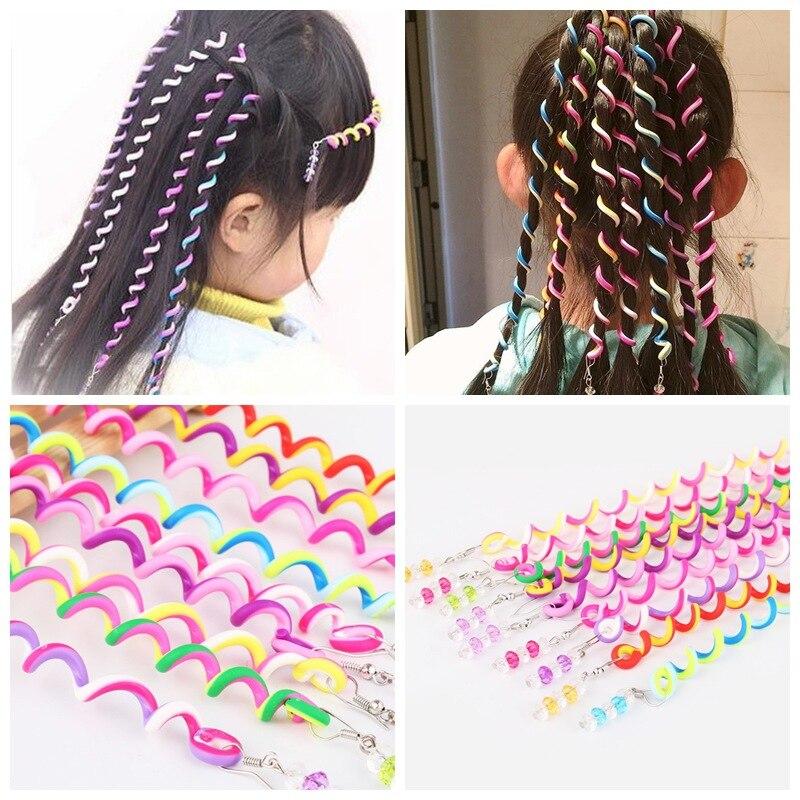 6 Pcs/Set Kids Curler Hair Braid Hair Sticker Kids Girls' Decor Hair Accesories Hair styling tool hairdo updo dreadlock cornrows 1pc black women hairagami hair bun updo fold wrap