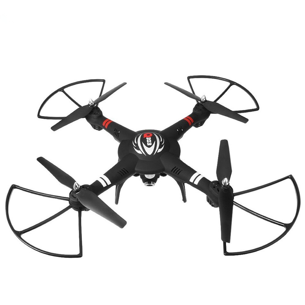 WLtoys Q303 - B 2.4GHz 4CH 6 Axis Gyro FPV Mini RC Quadcopter RTF Wifi Control with 2MP Camera  Remote Control Helicopter Black