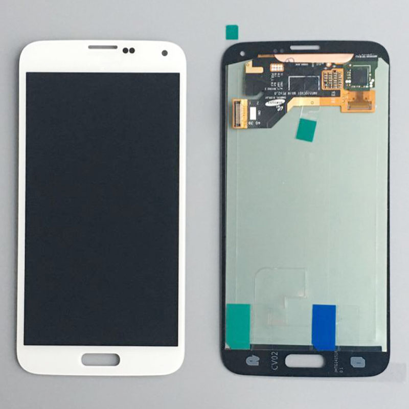 White Touch Screen Digitizer LCD Glass Display Assembly For Samsung Galaxy S5 G900 SM-G900 SM-G900F помощник дрели