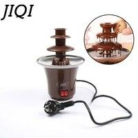 JIQI DIY 3 tier Chocolate Fountain Fondue Mini Choco waterfall machine Three Layers Children Wedding Birthday heat melts EU US