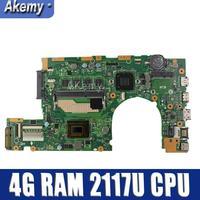 Akemy S400CA Laptop motherboard For Asus S400CA S500CA S400C S500C S400 S500 Test original mainboard 4G RAM 2117U CPU