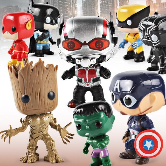 4 Vingadores da marvel Homem De Ferro Homem Aranha Capitão América Hulk Thanos Marinha Homem Árvore Mão Modelo Anime Figura Figura de Ação Brinquedos presente