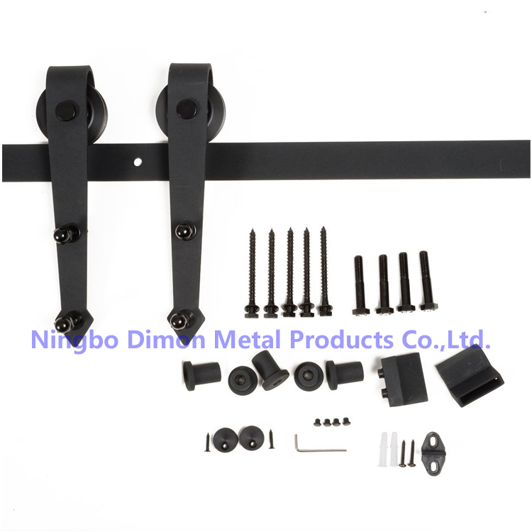 Dimon Customized Sliding Door Hardware With Damper Kits America Style Sliding Door Hardware DM-SDU 7204 With Soft Closing