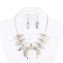 2017 New Luxury Maxi Necklaces & Pendants Vintage Gold Siliver Choker Statement Femme Boho Necklace Fashion Women Jewelry leaf
